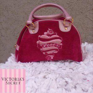 Victoria's Secret Love velvet small bag